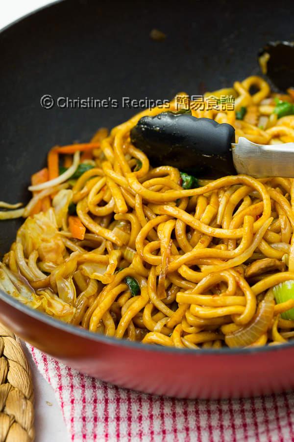 肉絲炒拉麵 Spicy Pork Ramen Noodle Stir-Fry02