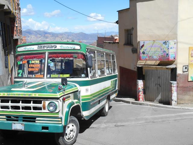 Chicken bus in Bolivia