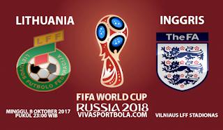 Prediksi Lithuania vs Inggris 8 Oktober 2017