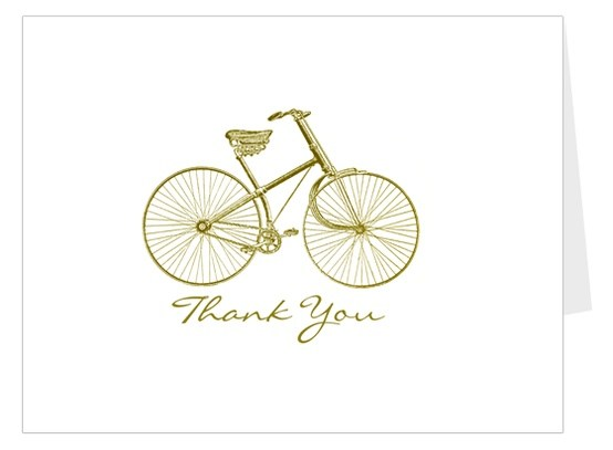 Bicycle Thank You Card by Thanks Lot