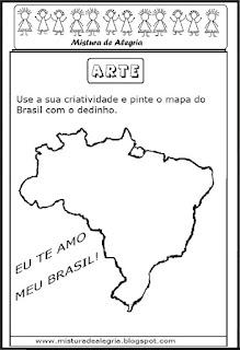 Desenho do mapa do Brasil-arte