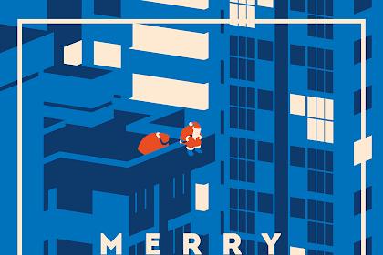 おしゃれなクリスマスポスター1