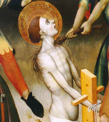 flagelacion azote latigo medieval birching tortura bernat martorell sant jordi san jorge