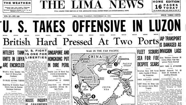 The Lima, Ohio News, 16 December 1941 worldwartwo.filminspector.com