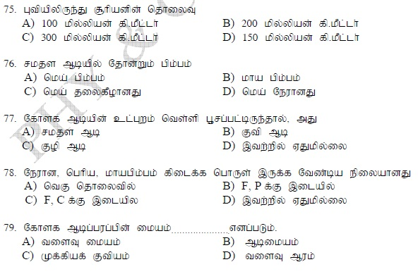 TAMILNADU GOVT JOBS : GROUP II MODEL QUESTION PAPERS AND