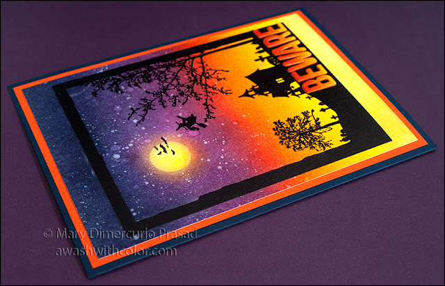Halloween Distress Ink Blended Background Card