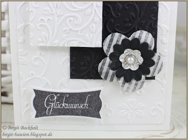 Glückwunschkarte in Schwarz-Weiß