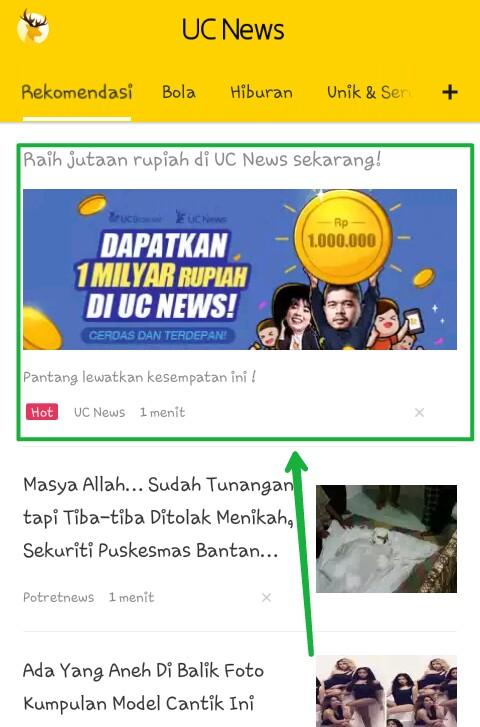 Tips Cepat Dapatkan 1 Juta Dari UC News Update Desember 2016