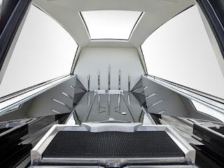 Corbillard Solaris, vue intérieur
