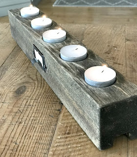 Rustic Tea Light Candle Holder