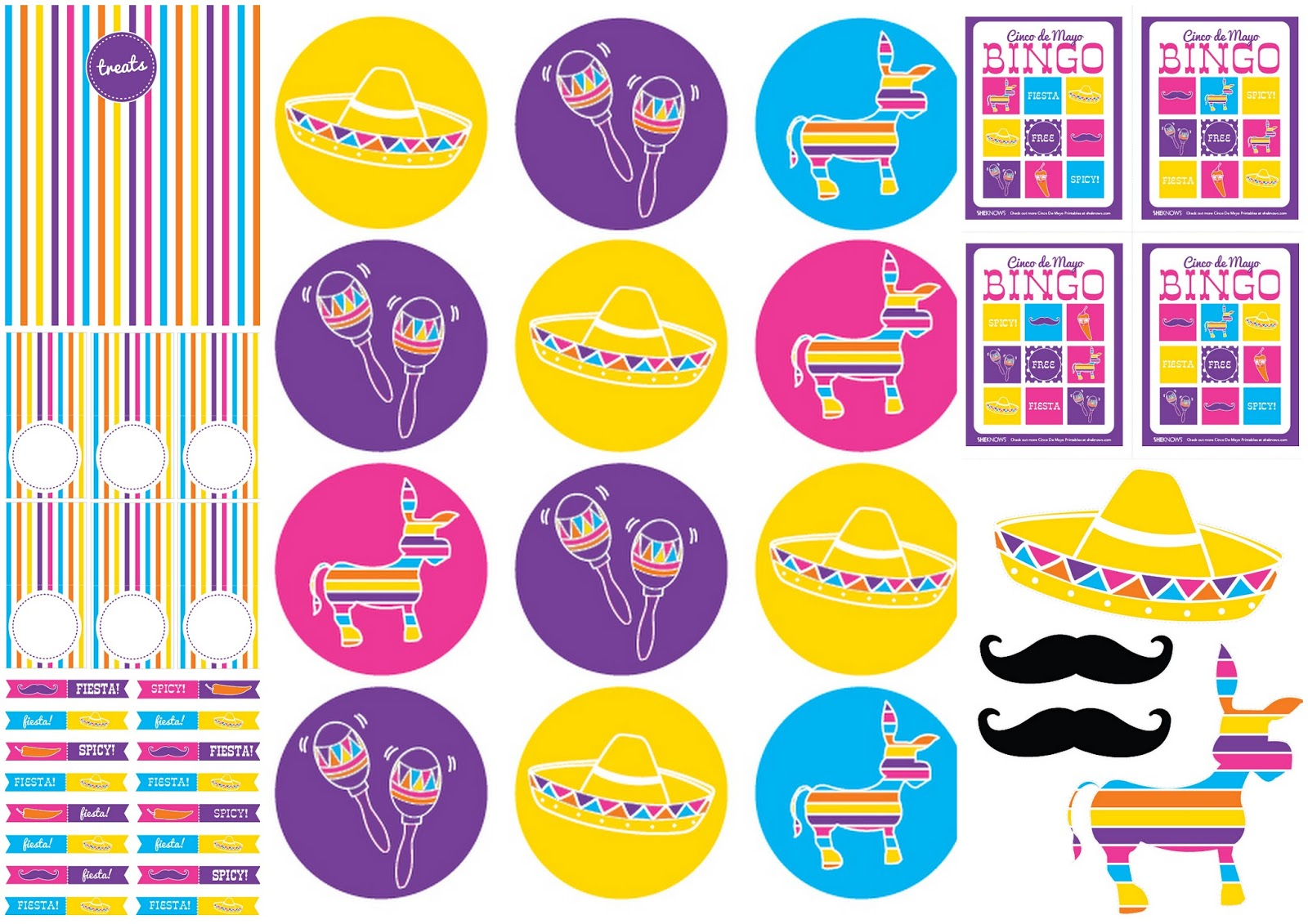 5 De Mayo Free Printable Mini Kit