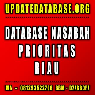 Jual Database Nasabah Prioritas Riau