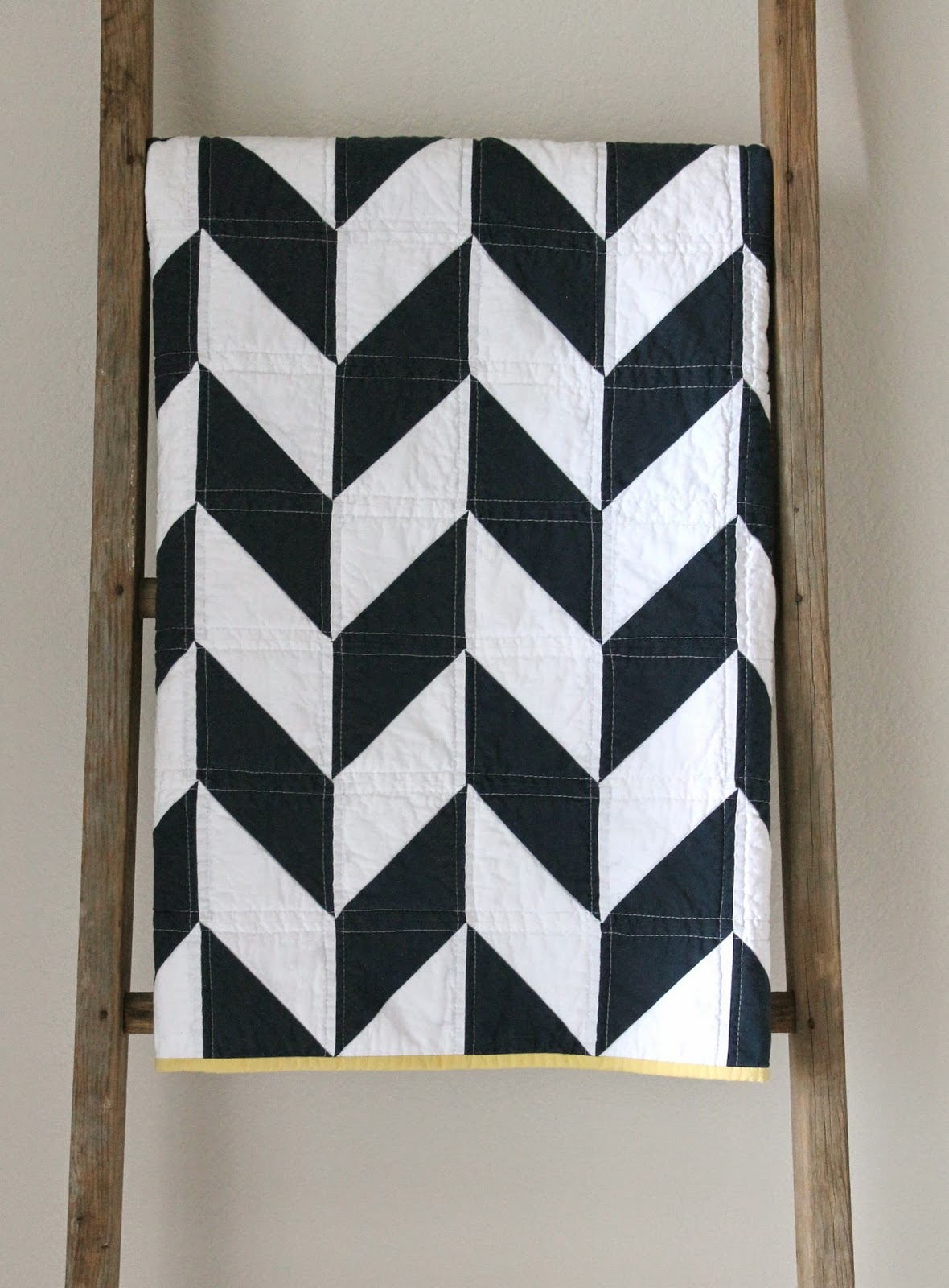 Craftyblossom navy and white nautical herringbone quilt for Red door design quilts