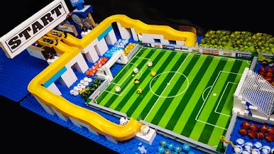 Torneio de BOLINHAS de GUDE com FUTEBOL - CARRERA de Canicas- Marble Football
