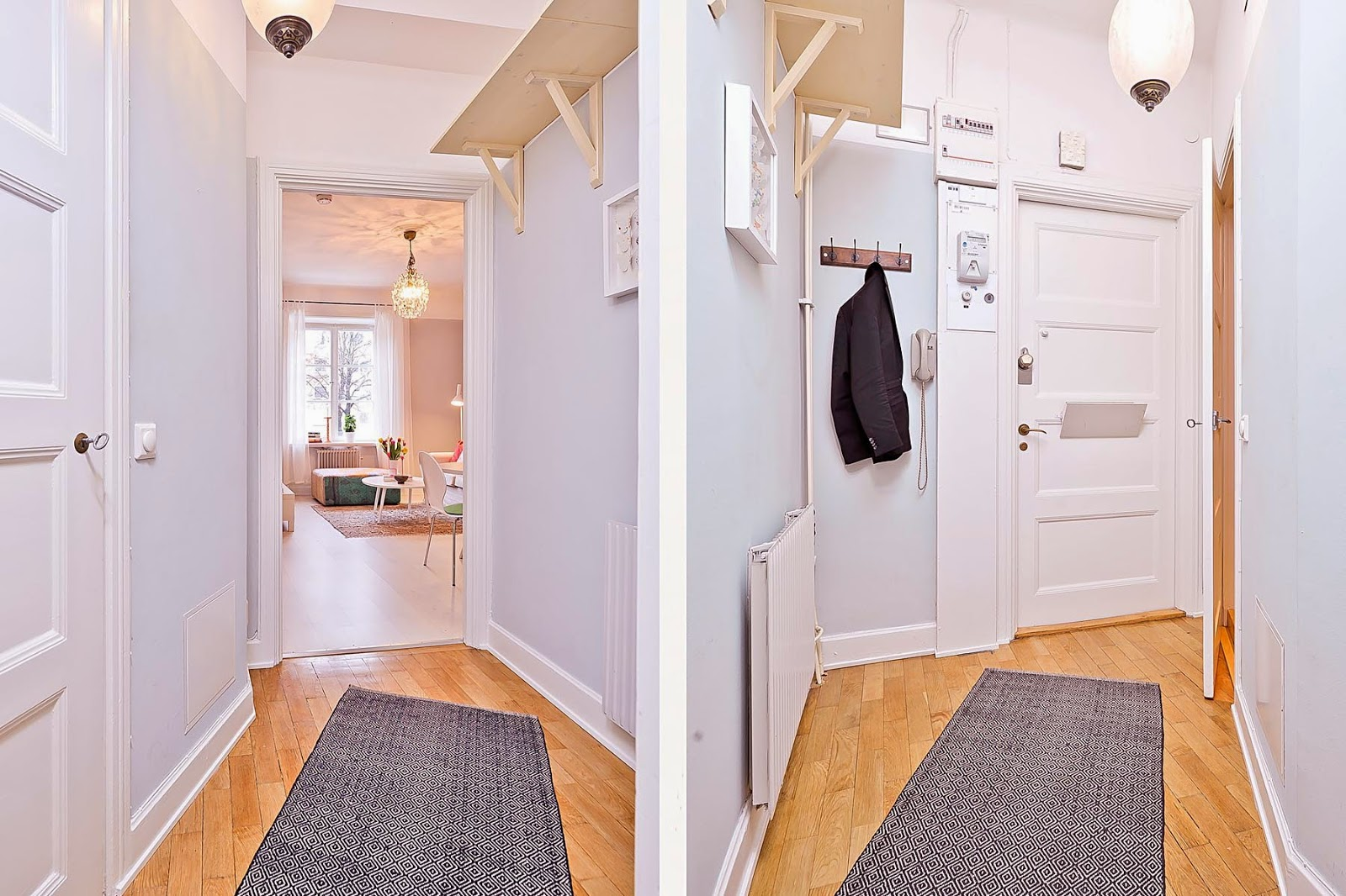 pequeno apartamento mobiliado para estudantes. Blog Achados de Decoração