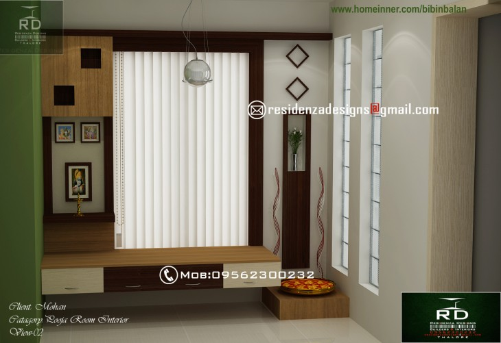 Pooja room design by Bibin Balan Indian Home DesignHouse plans