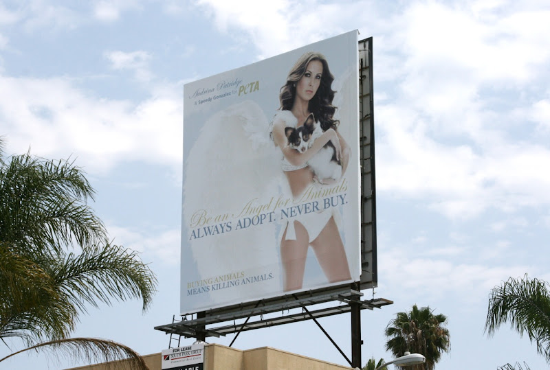 Audrina Patridge PETA pet adoption billboard