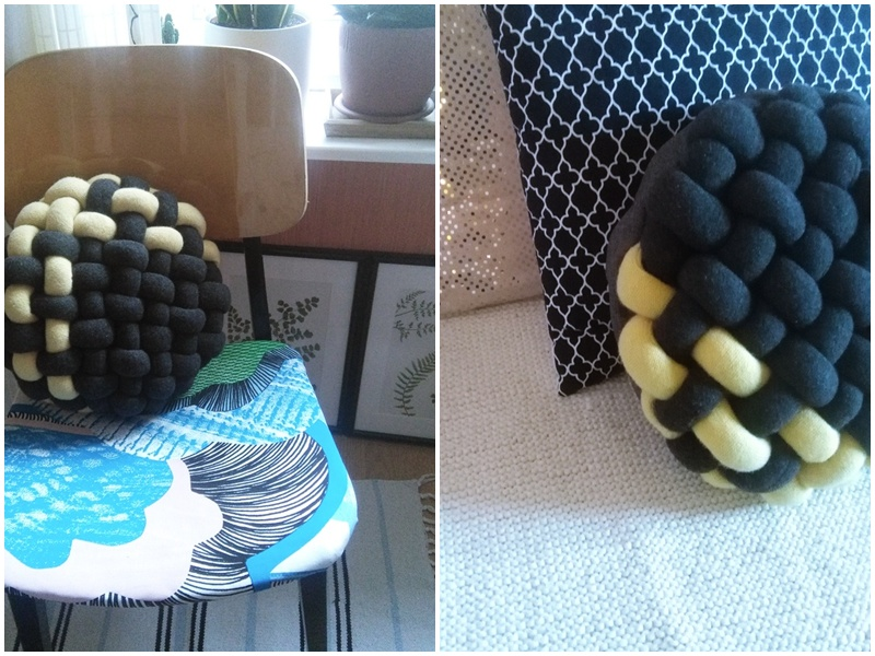 ciekawa poduszka hand made, szałowa poduszka z recyklingu