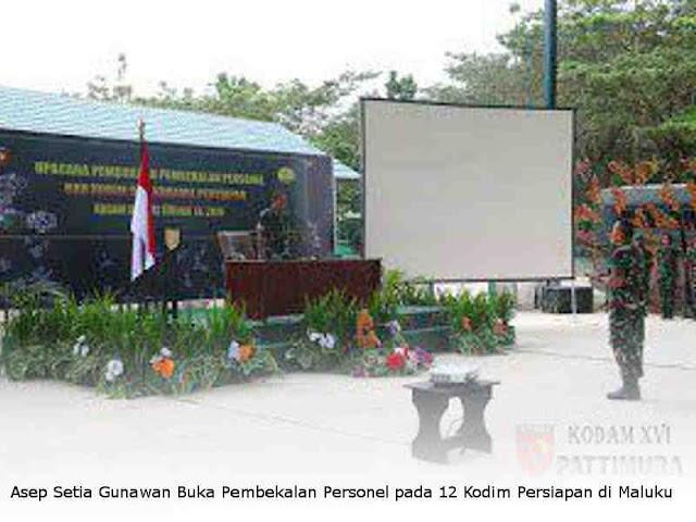 Asep Setia Gunawan Buka Pembekalan Personel pada 12 Kodim Persiapan di Maluku