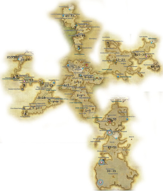 FF14 Thanalan Map