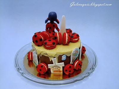 drip cake de ladybug