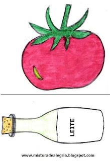 Desenho de caqui e leite