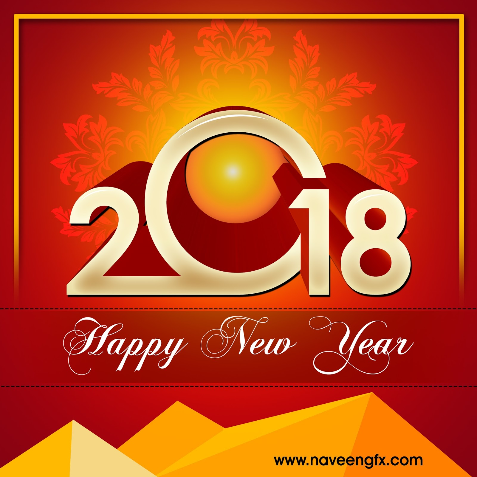 2018 happy new year psd design template free