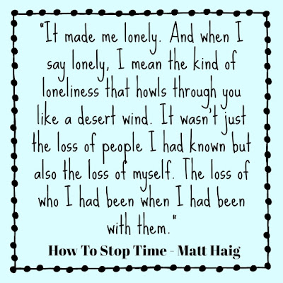How to Stop Time by Matt Haig, review by Tomes and Tequila