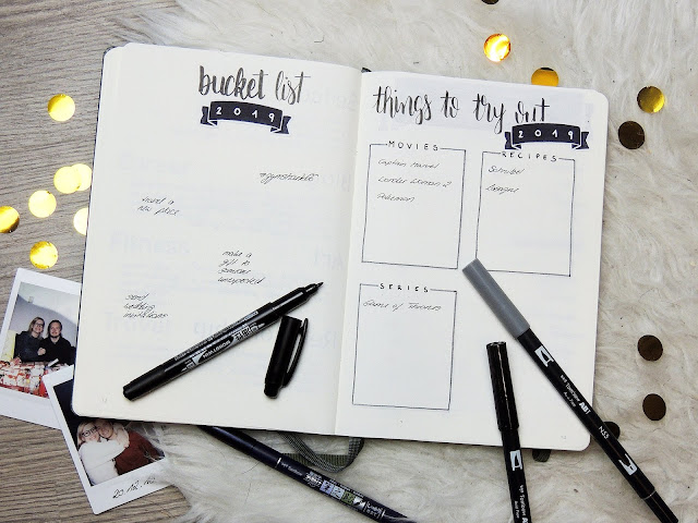 new years spread 2019 bullet journal glitter is the new black