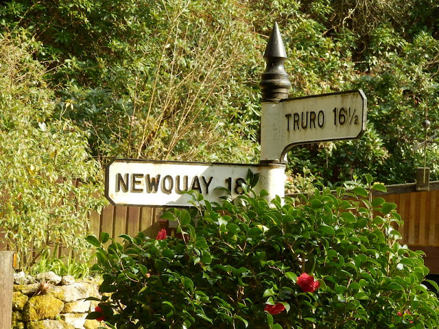 Old sign post to Truro and Newquay, Cornwall