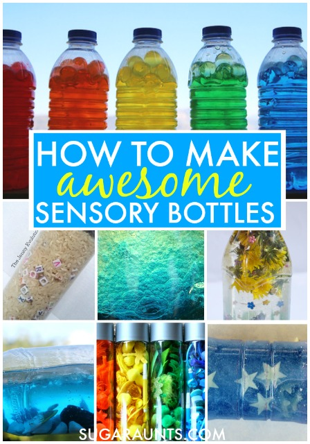 Sensory bottles for self-regulation, calming, and sensory input. How to make sensory bottles for learning and sensory.