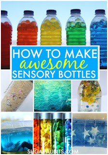 Sensory bottles for self-regulation, calming, and sensory input. How to make sensory bottles for learning and sensory.