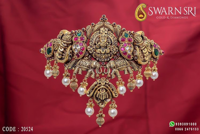 Peacock Lakshmi Choker by Swarn Sri Jewellers