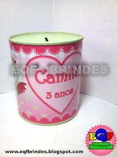 Cofrinho Metálico Pequeno Corujinha, Lembrancinha Corujinha, Brinde Corujinha, Festa Corujinha, Tema Corujinha