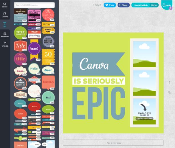 Editando tu diseño con Canva