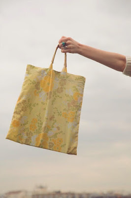 reusable, vintage, upcycled, tote, leotie lovely