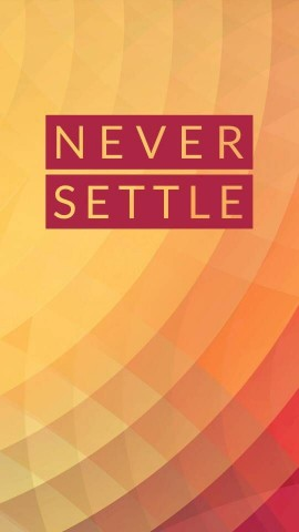 OnePlus Never Settle Background