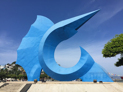 Sailfish statue in Manzanillo, Mexico
