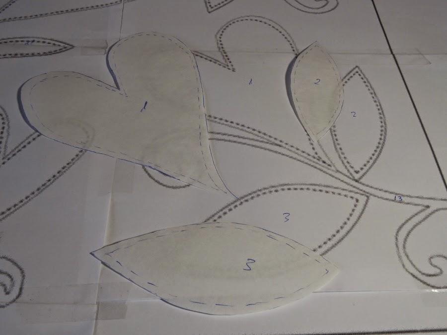 recortar y numerar las piezas de la plantilla