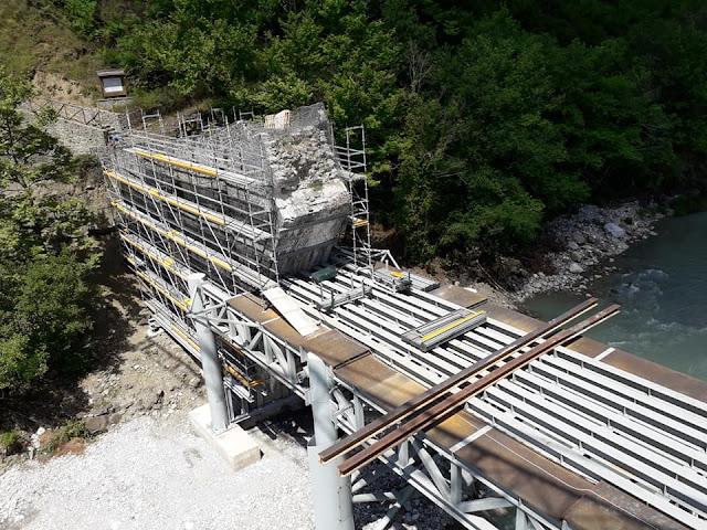 Γιάννενα: ΓΕΦΥΡΑ ΠΛΑΚΑΣ- Προχωρά με ταχύτατους ρυθμούς η αναστήλωση