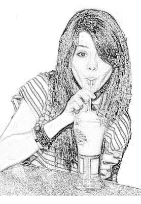 Selena Gomez Tomando Malteada Para Colorear Dibujo Views