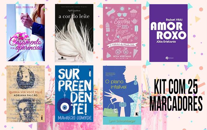 Sorteio: concorra a muitos livros e marcadores - 4 anos dos blogs Tudo Que Motiva e Coisas da Juu | Kit 1