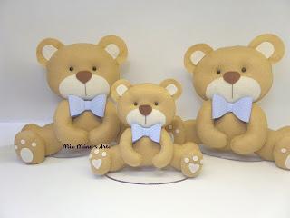 trio de ursinhos para nicho