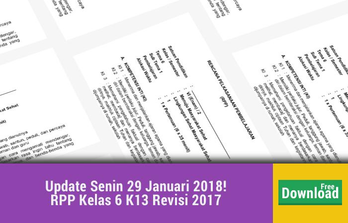 RPP Kelas 6 K13 Revisi 2017