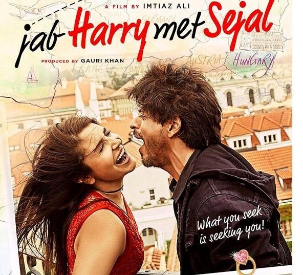 Poster Jab Harry Met Sejal Shahrukh Khan Anushka Sharma