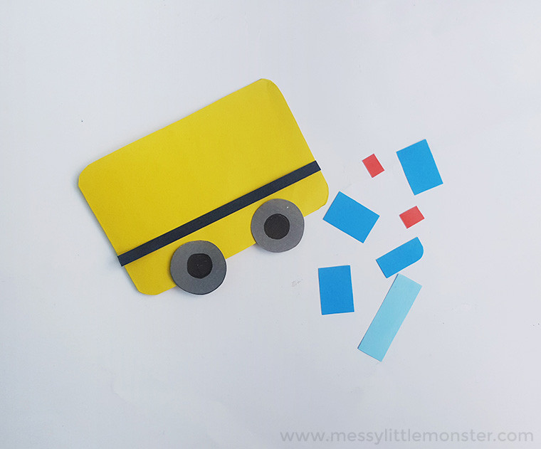 transportation activity- bus craft for toddlers and preschoolers