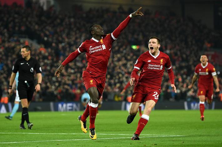 Mane thi đấu cho Liverpool.