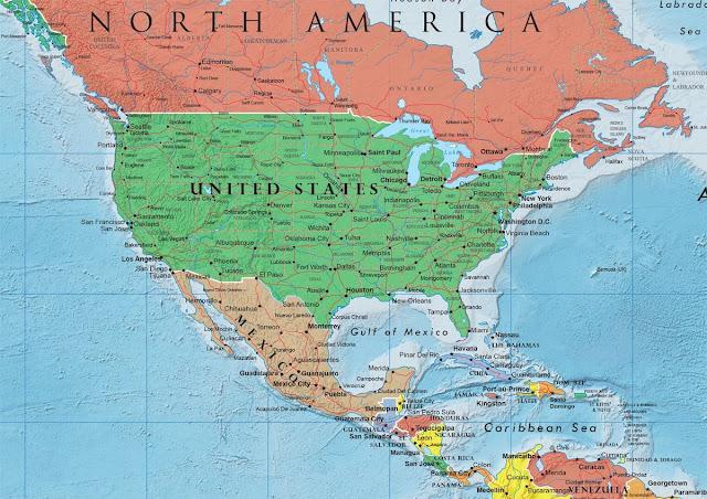خريطة الولايات المتحدة الامريكية ومدنها USA Map