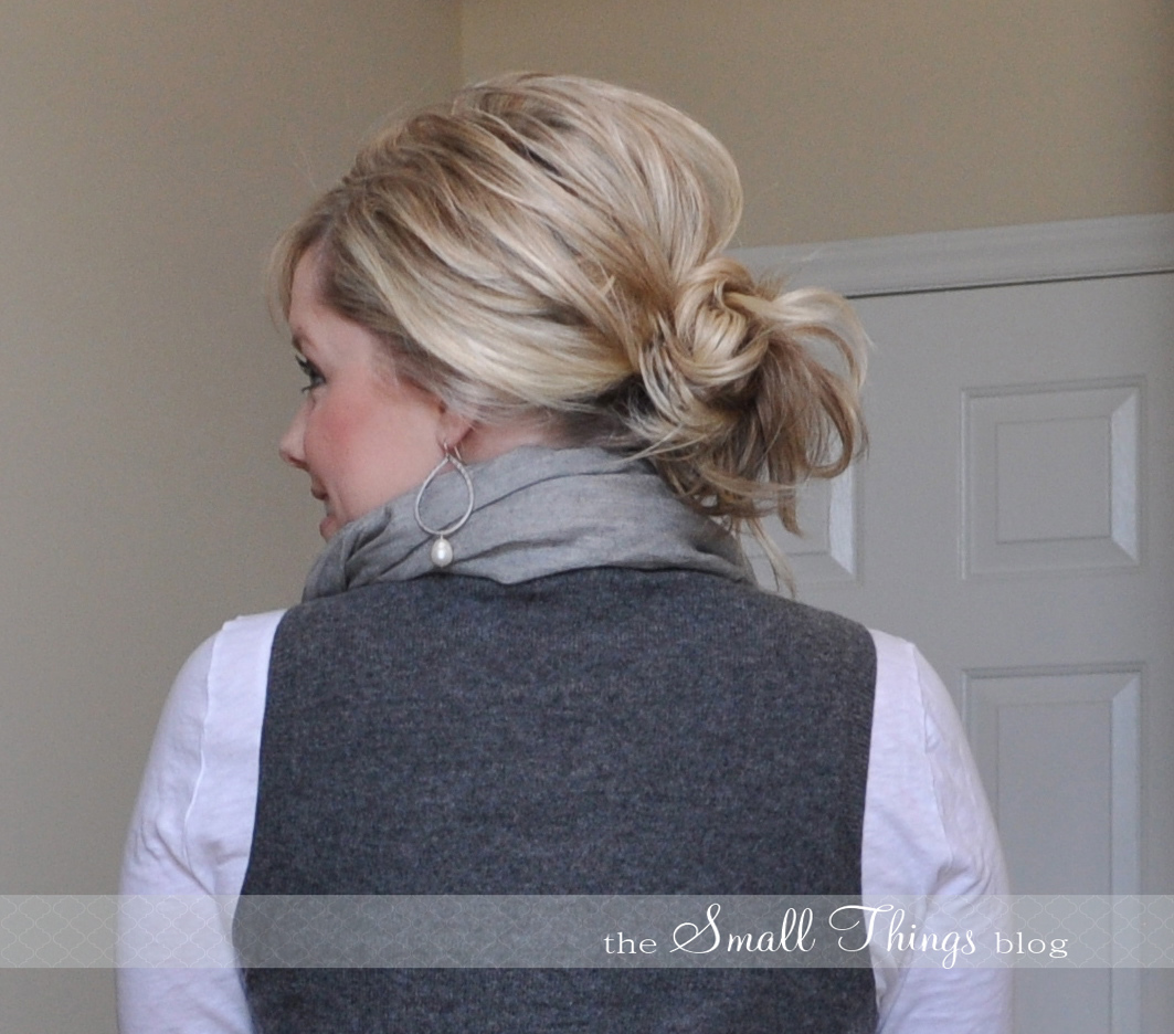 Peachy Messy Ponytail Bun The Small Things Blog Hairstyles For Men Maxibearus