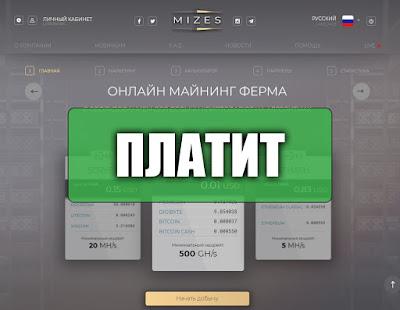 Скриншоты выплат с хайпа mizes.biz
